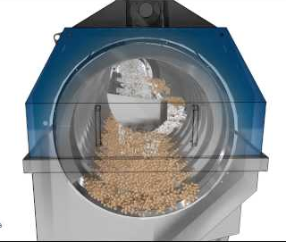 working principle of rotary drum screen